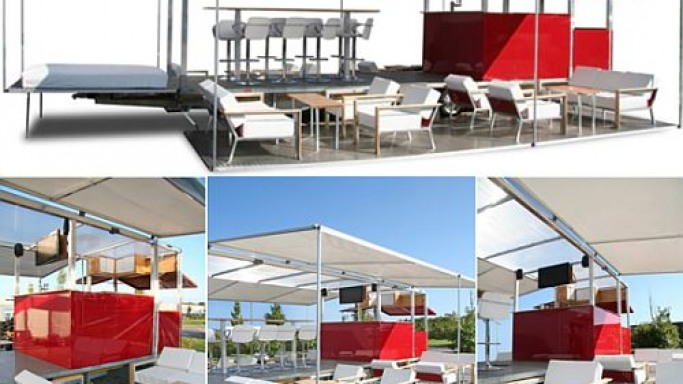 TheBox mobile lounge bar – A comfy meeting place for your guests