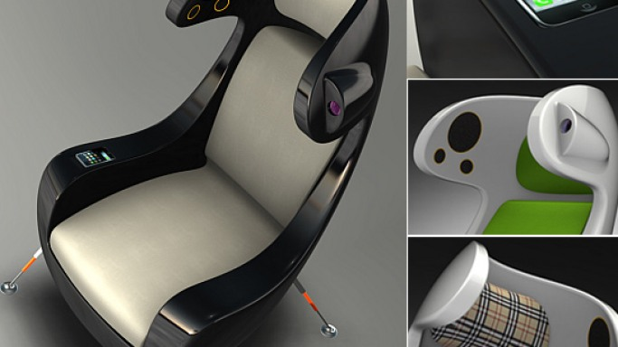 Martin Emila's Media Chair concept looks extraterrestrial