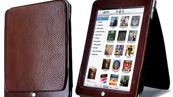 Give your iPad extra care with hand-stitched leather casing