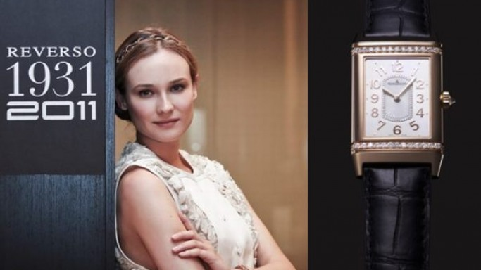 Diane Kruger, face of the new Jaeger-LeCoultre Reverso Lady Ultra Thin