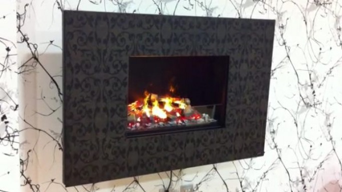 Eco-friendly Zen 3D fireplace by GlammFire