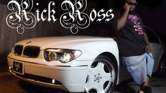 Rick Ross along with his BMW 760Li